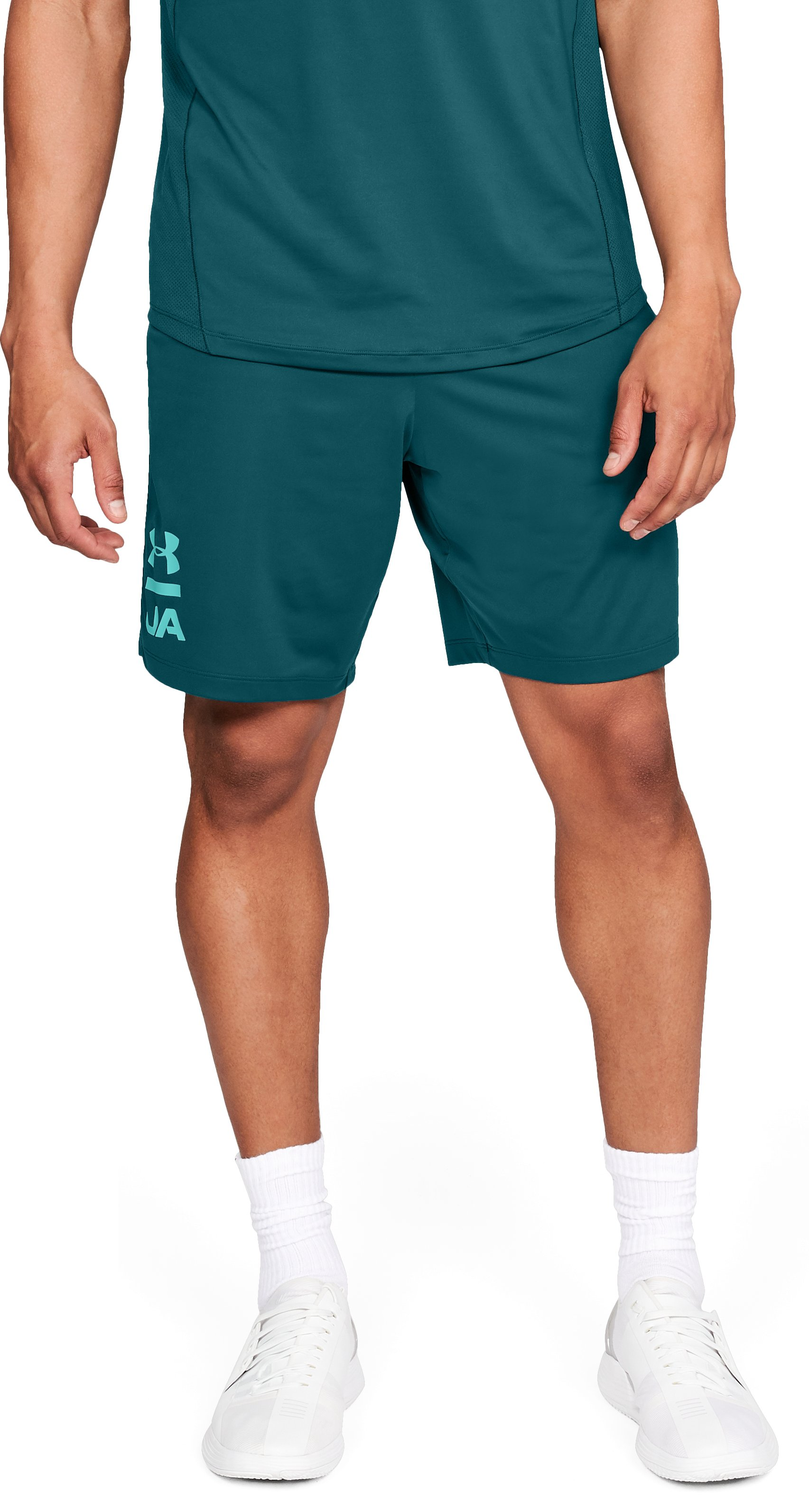 Men's UA MK-1 Graphic Shorts, TOURMALINE TEAL