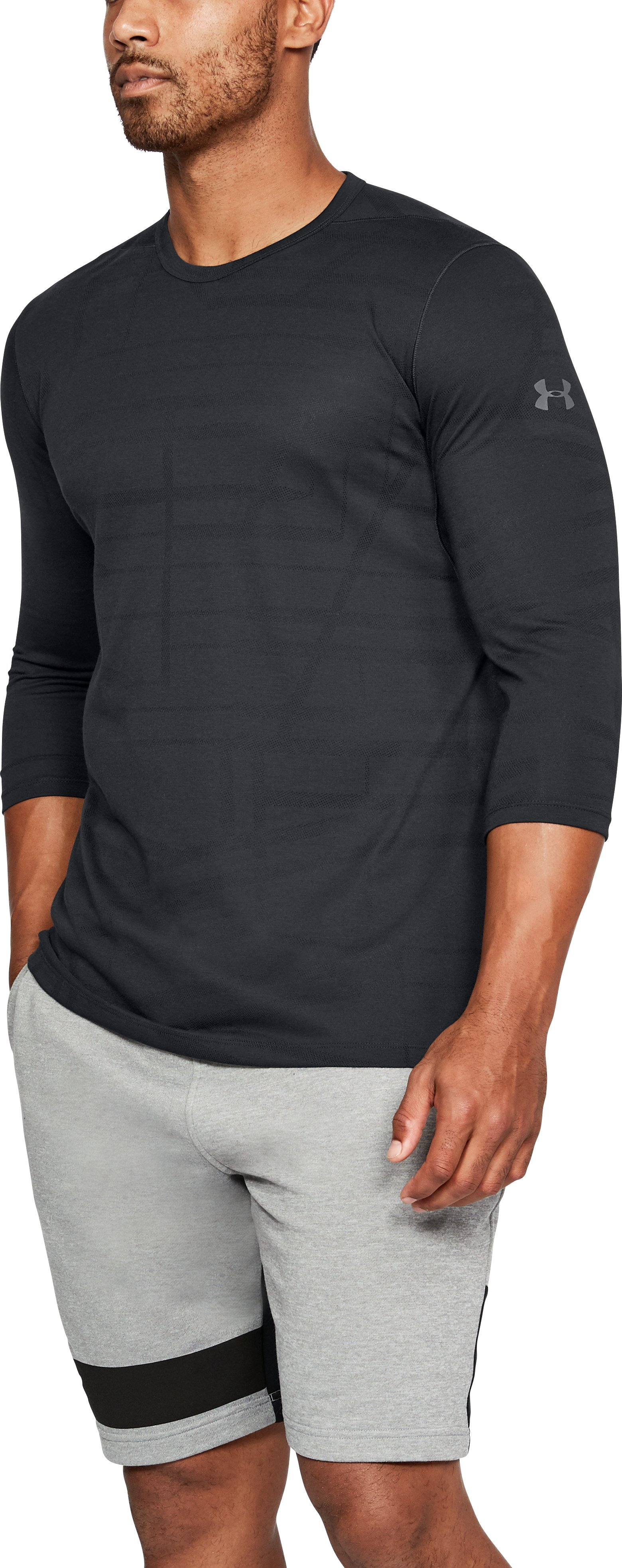 Men's UA ¾ Utility T-Shirt, Black