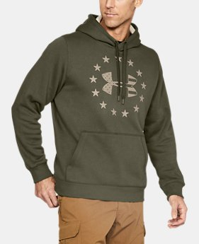 New to Outlet Men's UA Freedom Rival Fleece Hoodie  1  Color Available $37.49 to $37.99