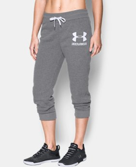 Women's UA Favorite Fleece Graphic Capris LIMITED TIME OFFER 1 Color $39.99