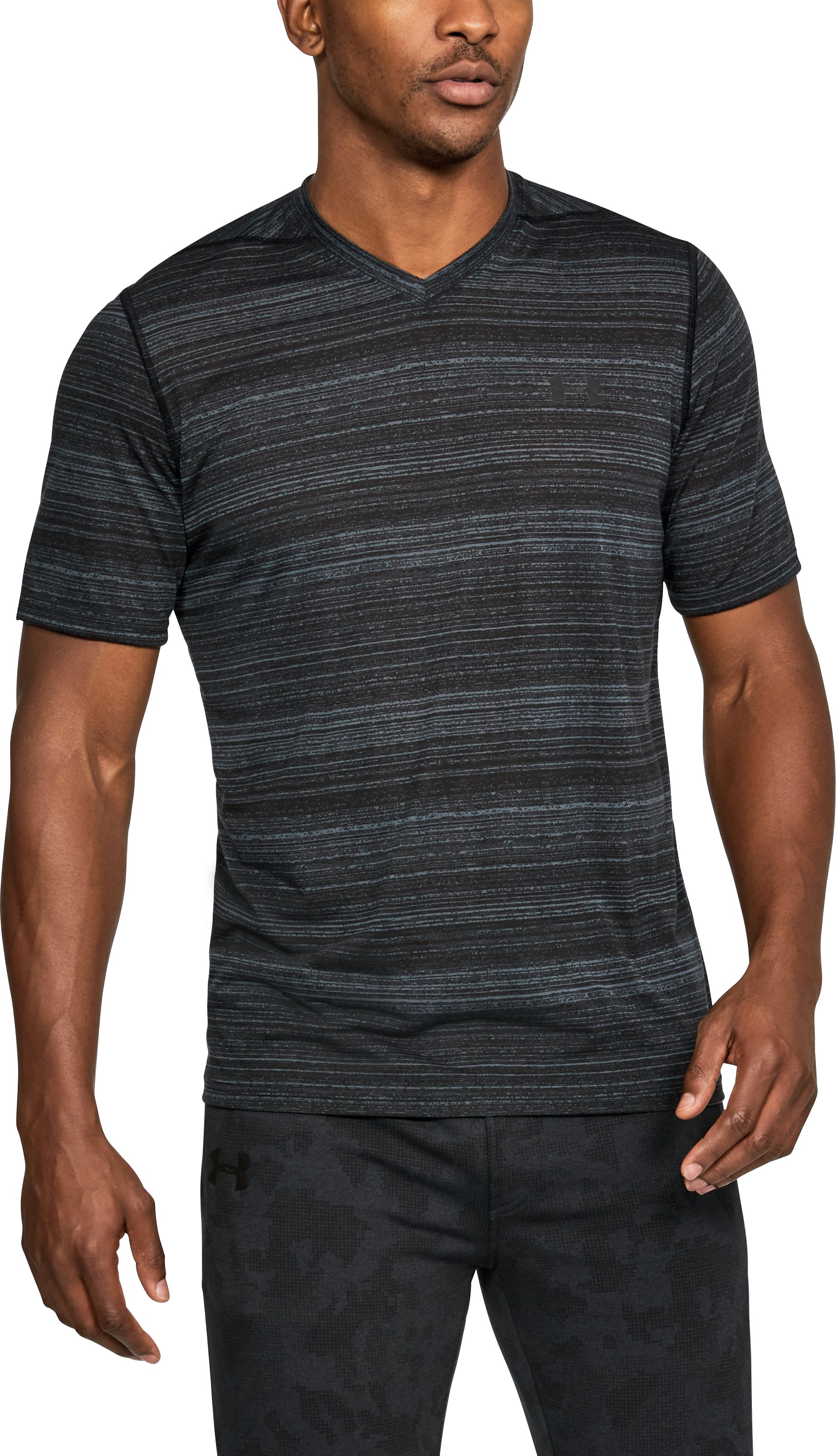 Men's UA Threadborne™ V-Neck, STEALTH GRAY, undefined