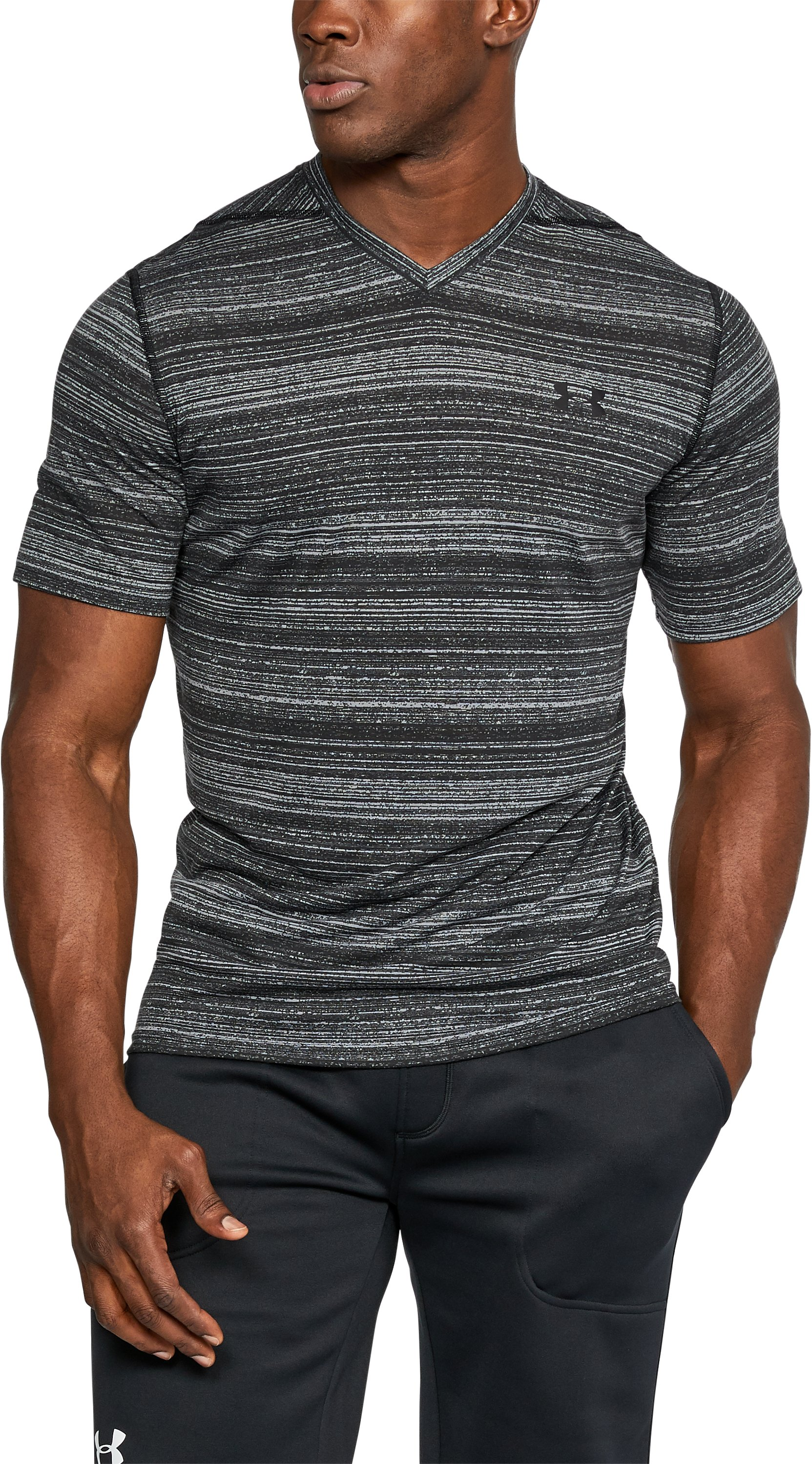 Men's UA Threadborne™ V-Neck, Steel,