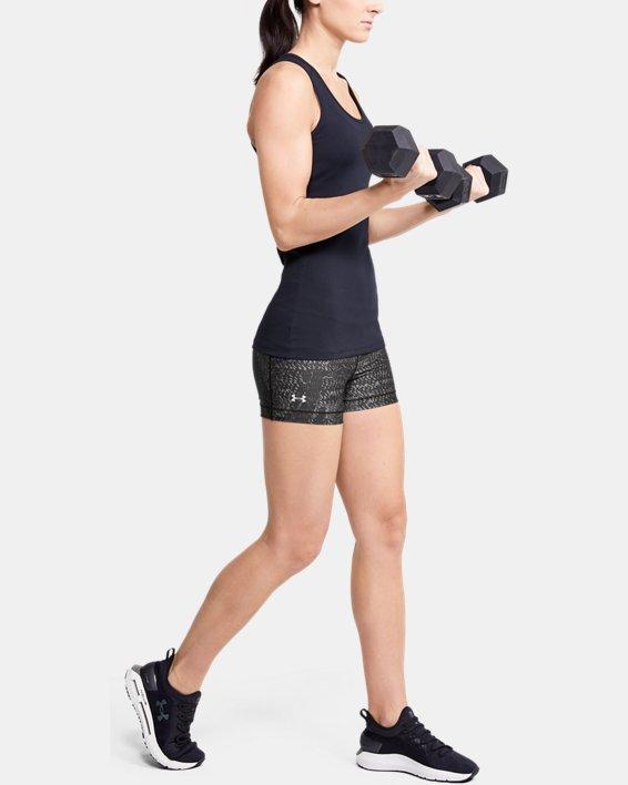 Women's HeatGear® Armour Shorty Printed Shorts, Gray, pdpMainDesktop image number 1