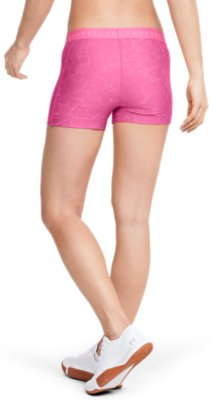 Under Armour UA Women/'s Heat Gear 2 in 1 Printed Sports Gym Shorts New