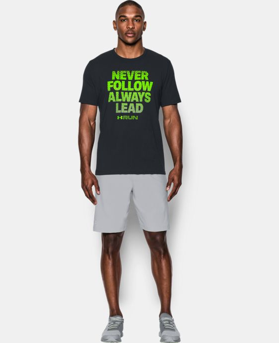 New Arrival Men's UA Run Never Follow T-Shirt  1 Color $24.99