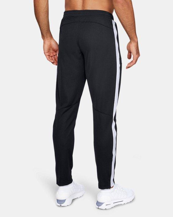 Men's UA Sportstyle Pique Pants, Black, pdpMainDesktop image number 2