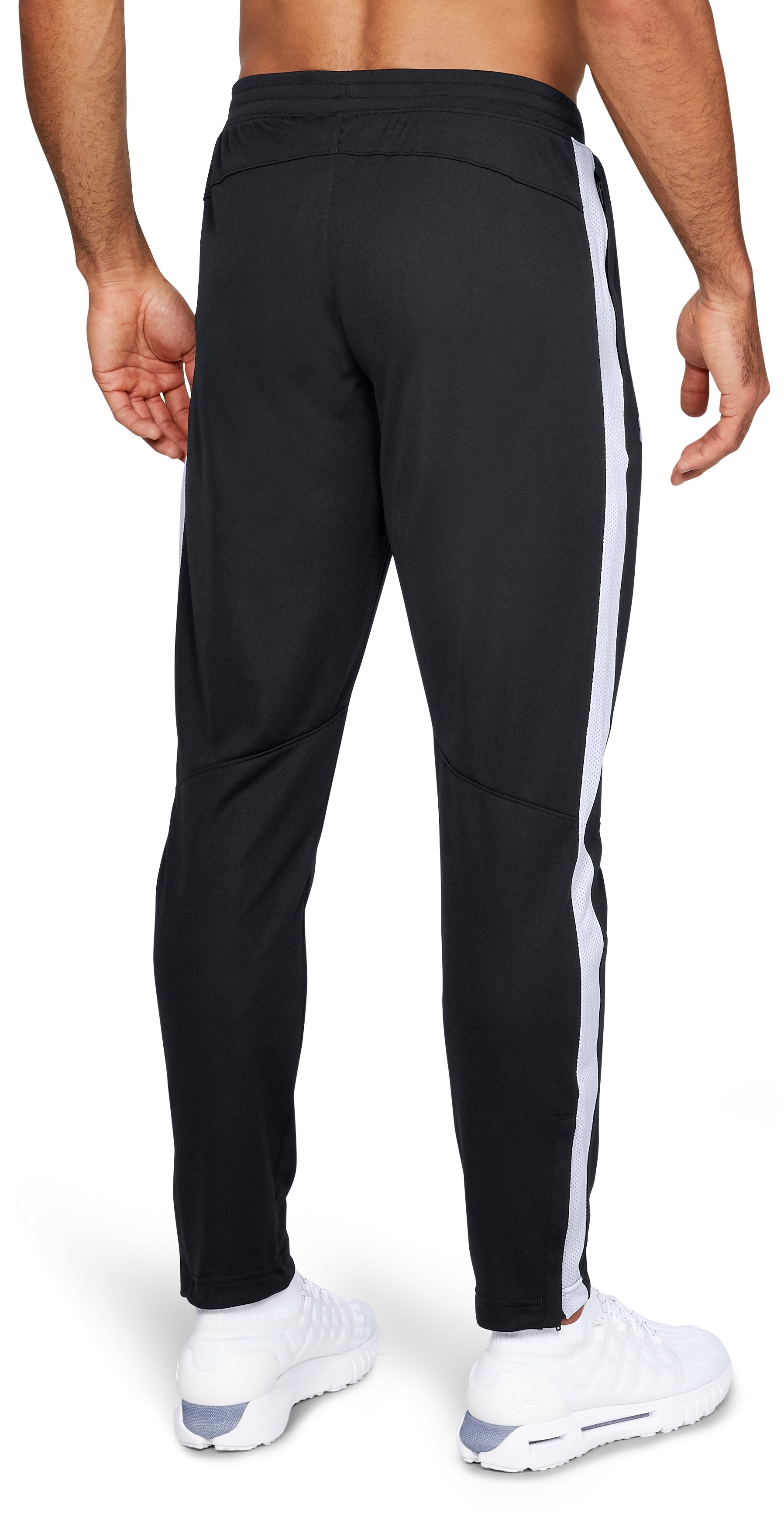 Men's UA Sportstyle Pique Pants, Black ,