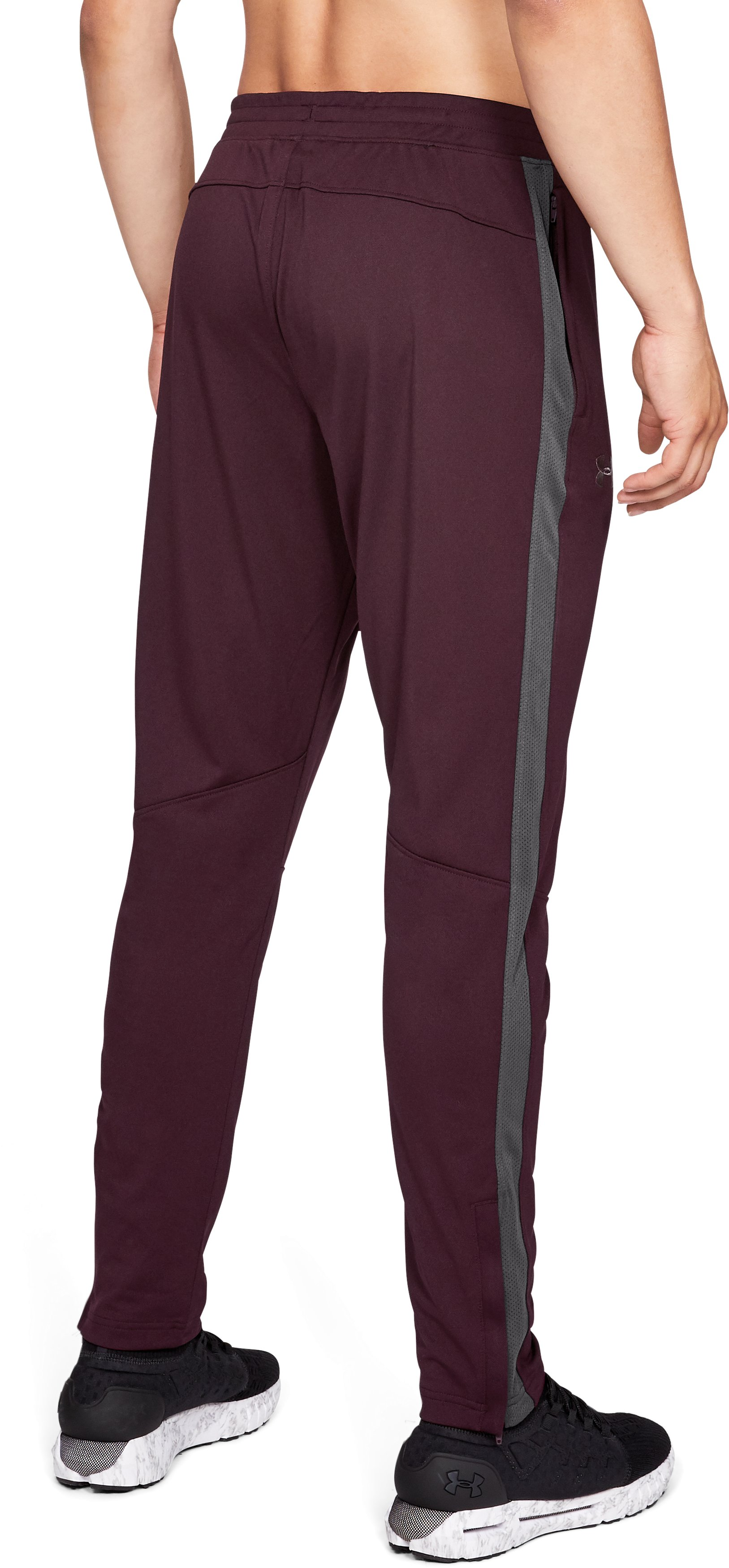 Men's UA Sportstyle Pique Pants, DARK MAROON,