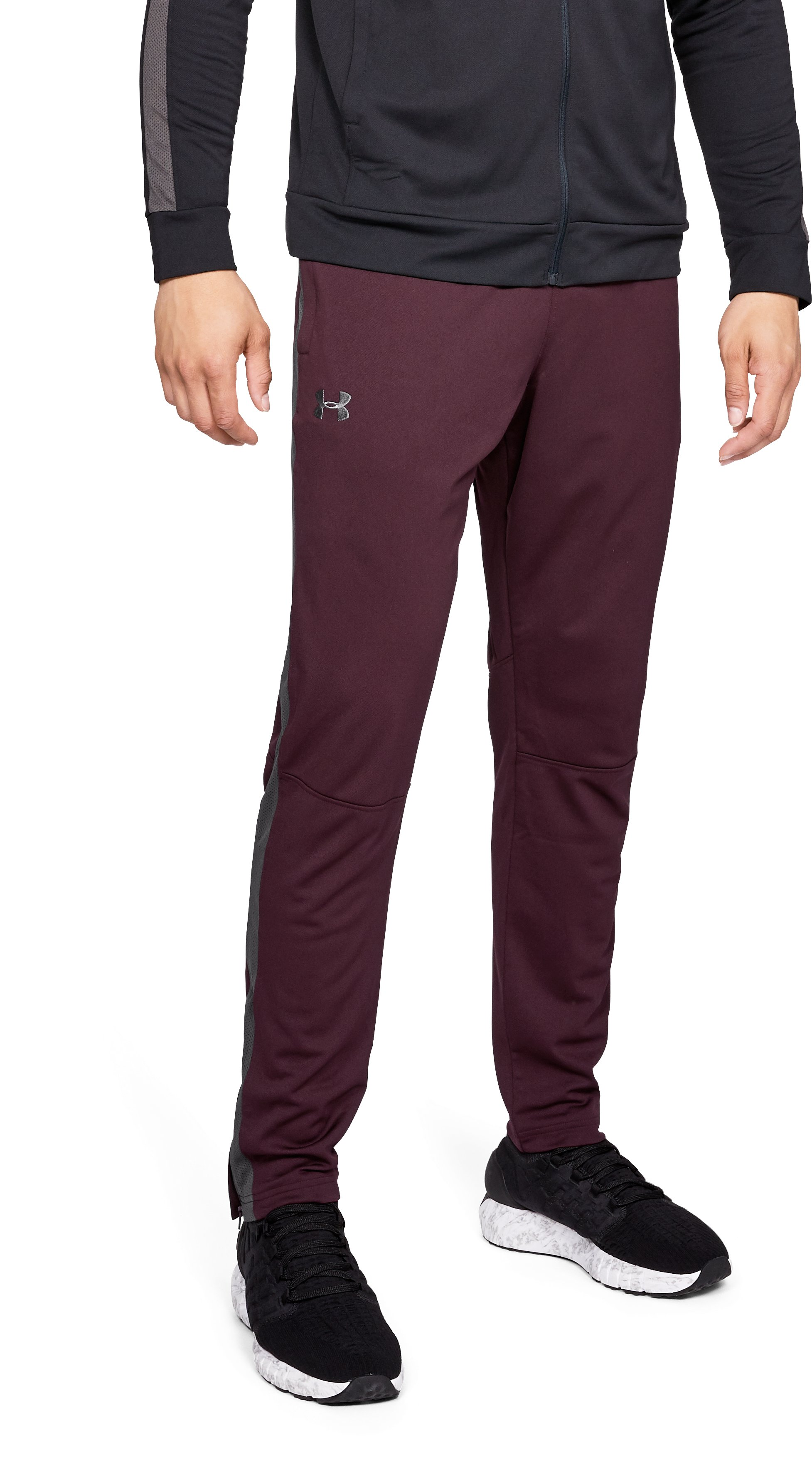 Men's UA Sportstyle Pique Pants, DARK MAROON