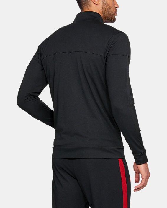 Men's UA Sportstyle Pique Jacket, Black, pdpMainDesktop image number 1
