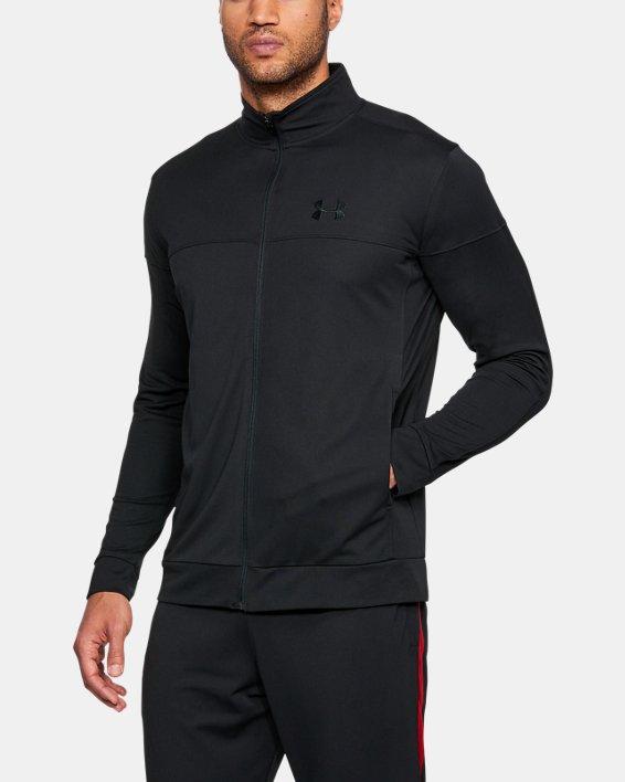 Men's UA Sportstyle Pique Jacket, Black, pdpMainDesktop image number 0