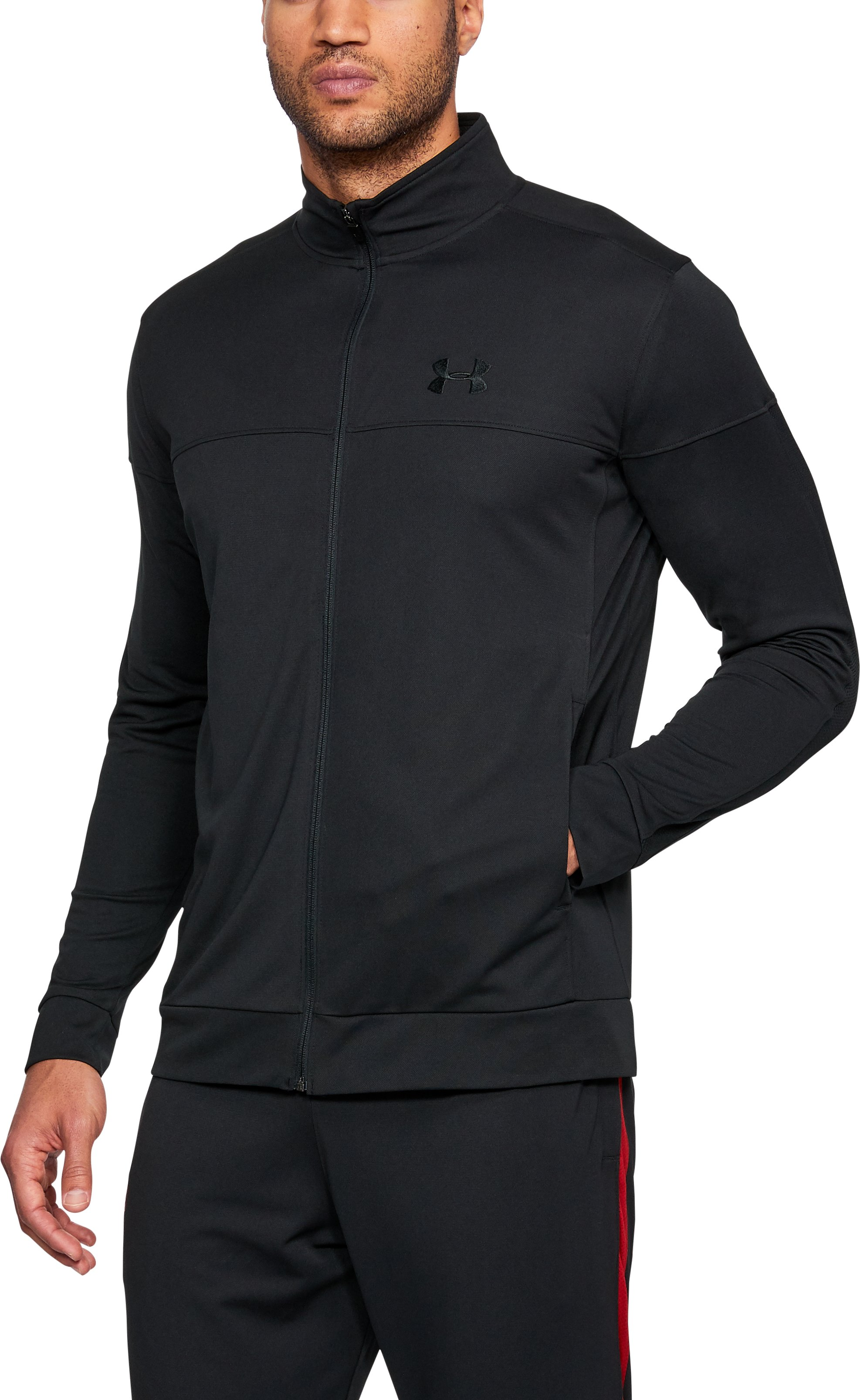 Men's UA Sportstyle Pique Jacket, Black , undefined