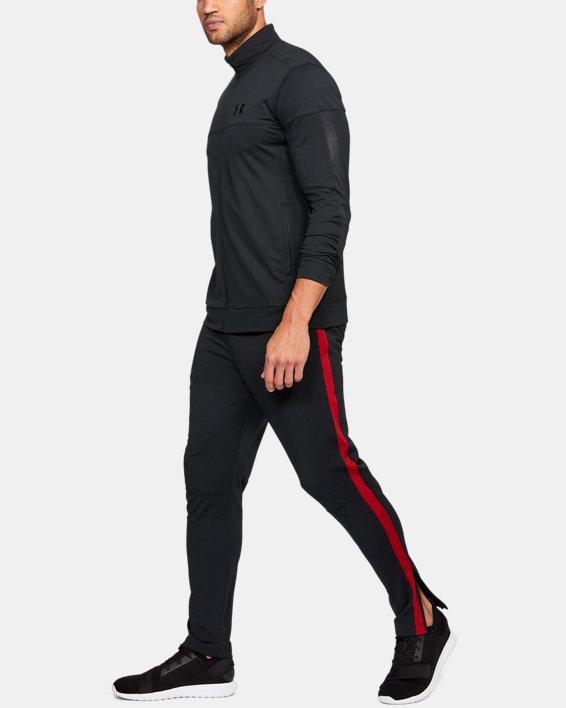 Men's UA Sportstyle Pique Jacket, Black, pdpMainDesktop image number 2