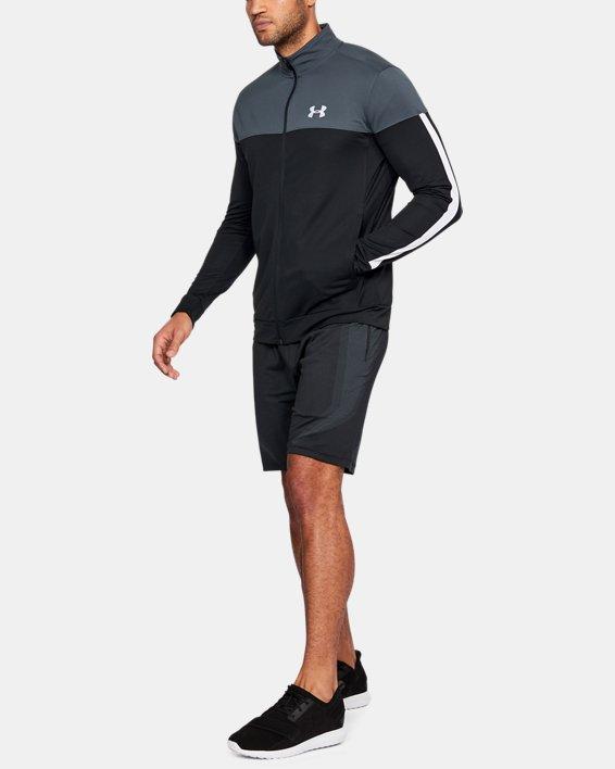 Men's UA Sportstyle Pique Jacket, Gray, pdpMainDesktop image number 1