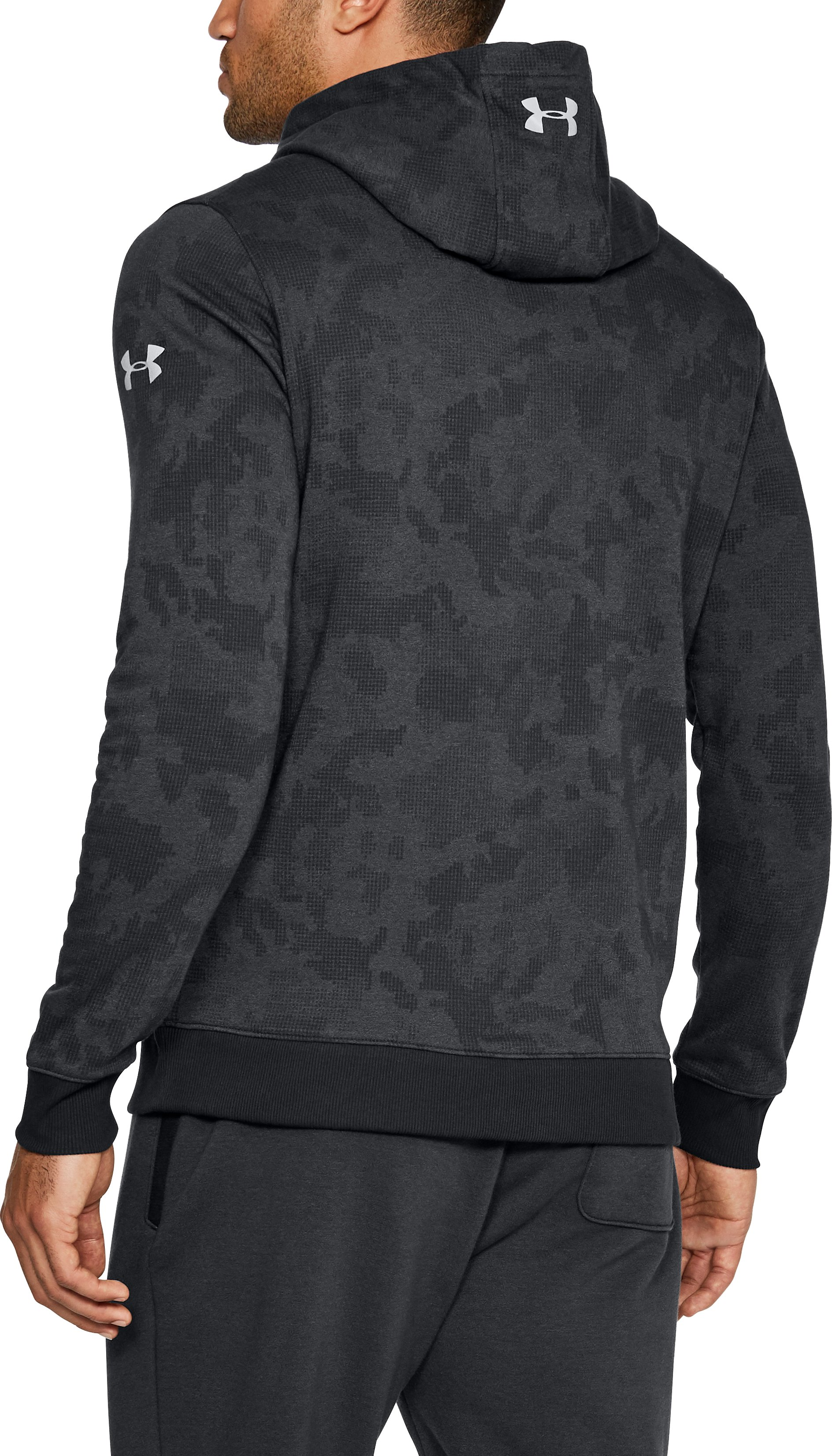 Men's UA x Project Rock UA Threadborne™ Fleece Hoodie, Black ,