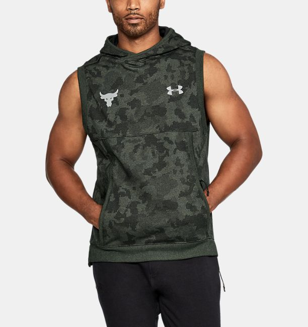 e243aefe83c25 Men s UA x Project Rock UA Threadborne™ Fleece Sleeveless Hoodie ...