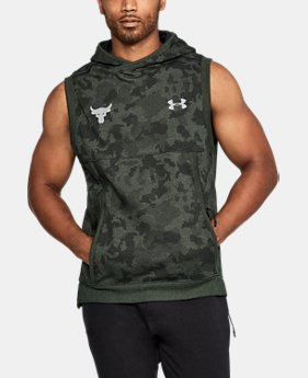 Men's UA x Project Rock UA Threadborne™ Fleece Sleeveless Hoodie  1 Color $69.99
