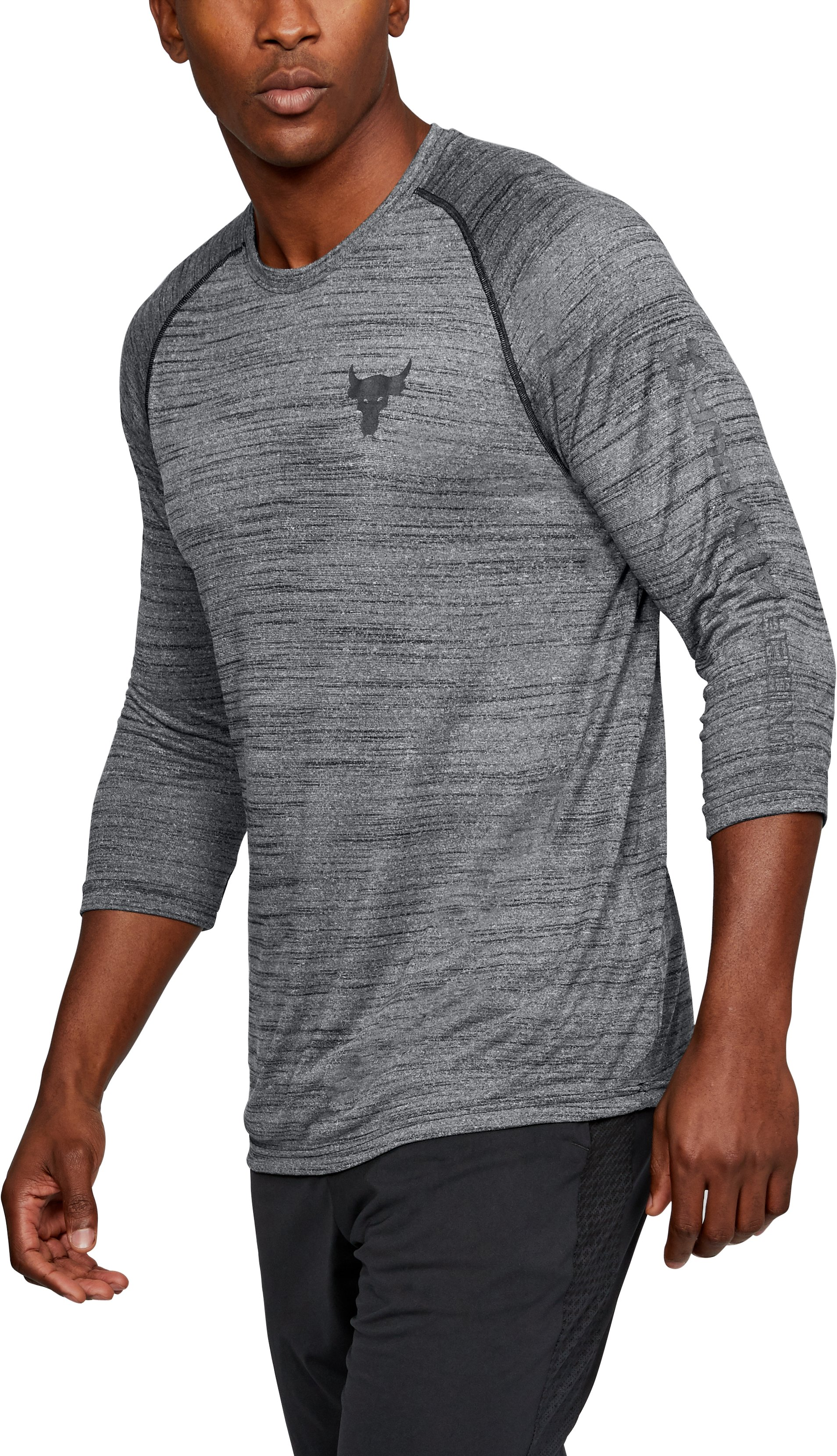 Men's UA x Project Rock ¾ Utility T-Shirt, Black