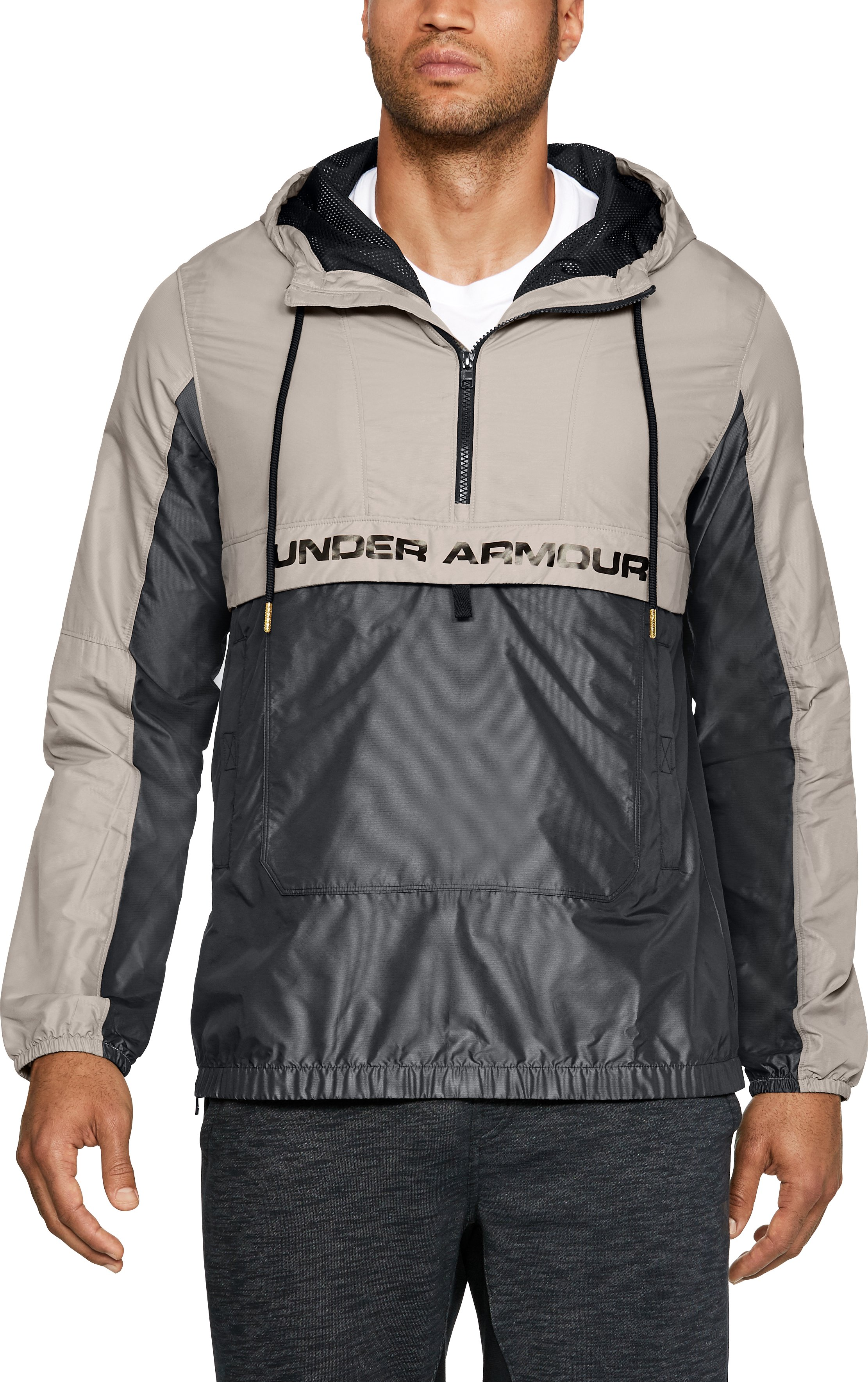 Men's UA Pursuit Subsurface Windbreaker, AUTUMN TAN