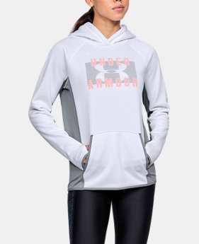 New to Outlet Women's  UA Storm Armour Fleece® Big Logo Hoodie  1 Color $38.49 to $41.24