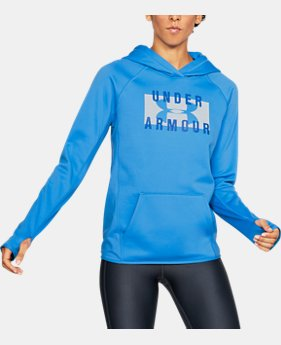 Womens blue outlet under armour us womens ua storm armour fleece big logo hoodie 1 color available 3299 to 4124 gumiabroncs Gallery