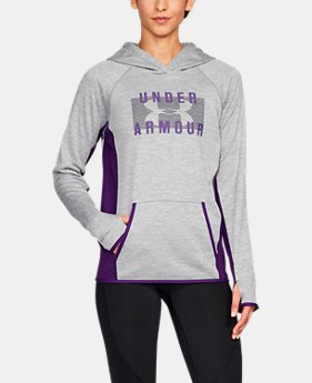 New Arrival Women's UA Storm Armour® Fleece Big Logo Twist Hoodie  4 Colors $54.99