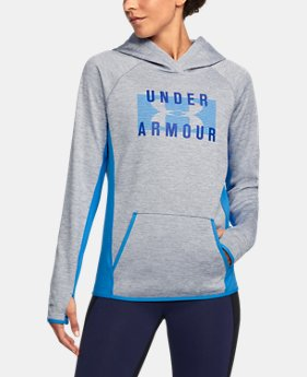 New to Outlet Women's UA Storm Armour® Fleece Big Logo Twist Hoodie LIMITED TIME OFFER 3 Colors $39.99