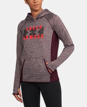 New Arrival Women's UA Storm Armour® Fleece Big Logo Twist Hoodie  1 Color $54.99