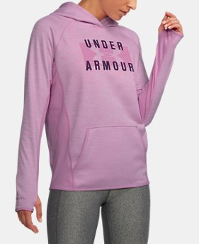 New to Outlet Women's UA Storm Armour® Fleece Big Logo Twist Hoodie LIMITED TIME OFFER 2 Colors $39.99