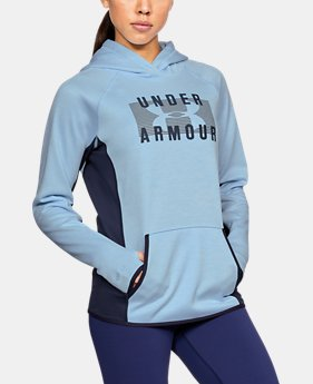 Women's UA Storm Armour® Fleece Big Logo Twist Hoodie LIMITED TIME OFFER 3 Colors $50.9