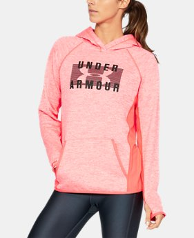 New to Outlet Women's UA Storm Armour® Fleece Big Logo Twist Hoodie LIMITED TIME OFFER 1 Color $39.99