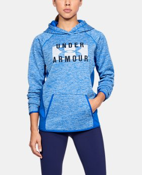 Women's  UA Storm Armour Fleece® Big Logo Twist Hoodie  4 Colors $41.24