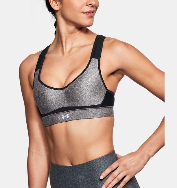 2b2b52094721e Women s HeatGear Armour® High Heathered Support Sports Bra