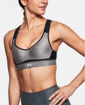 Women's UA Warp Knit High Heathered Sports Bra  1 Color $55
