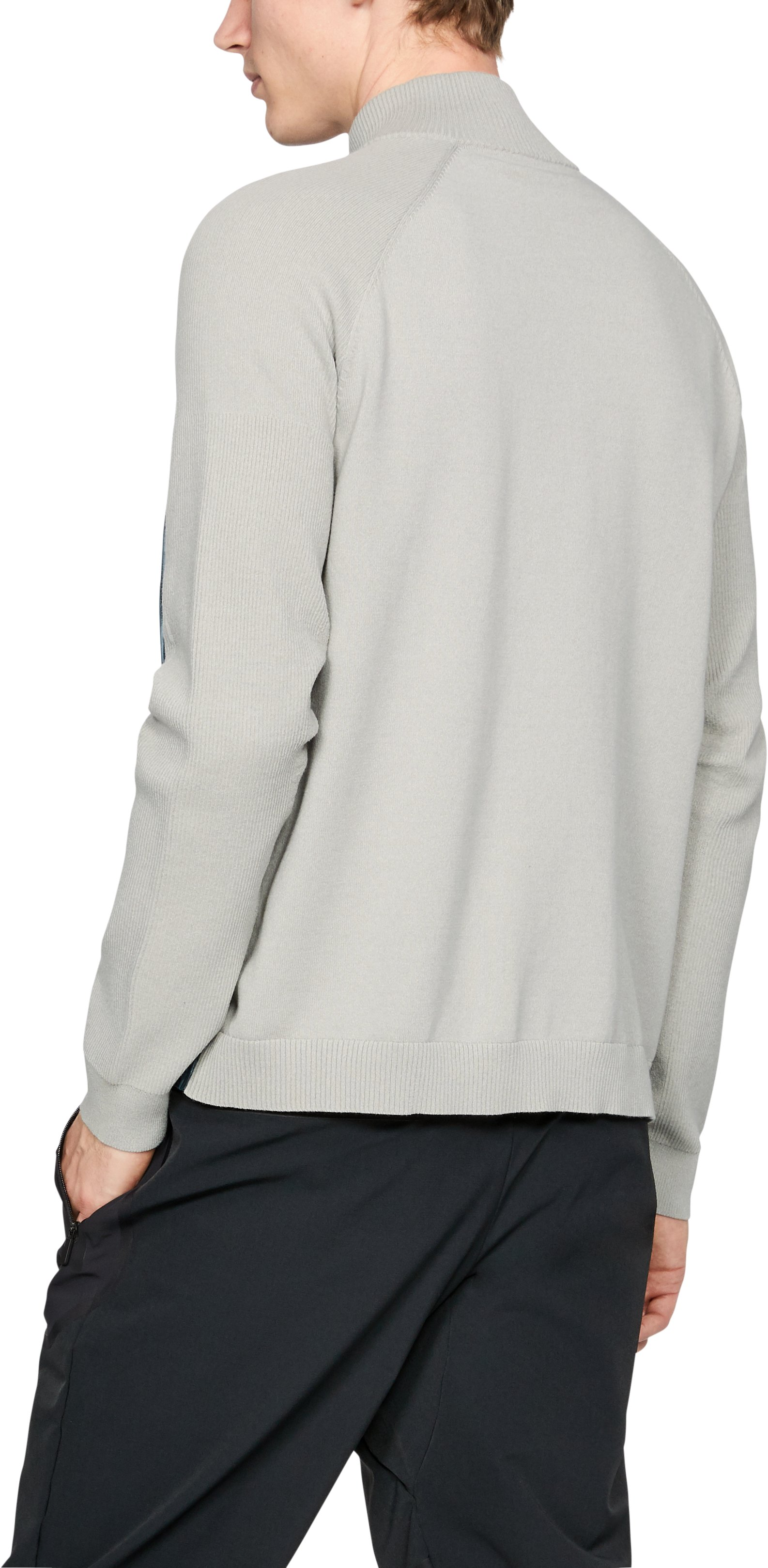 Men's UAS Full Zip Mock, LIGHT HEATHER GRAY,