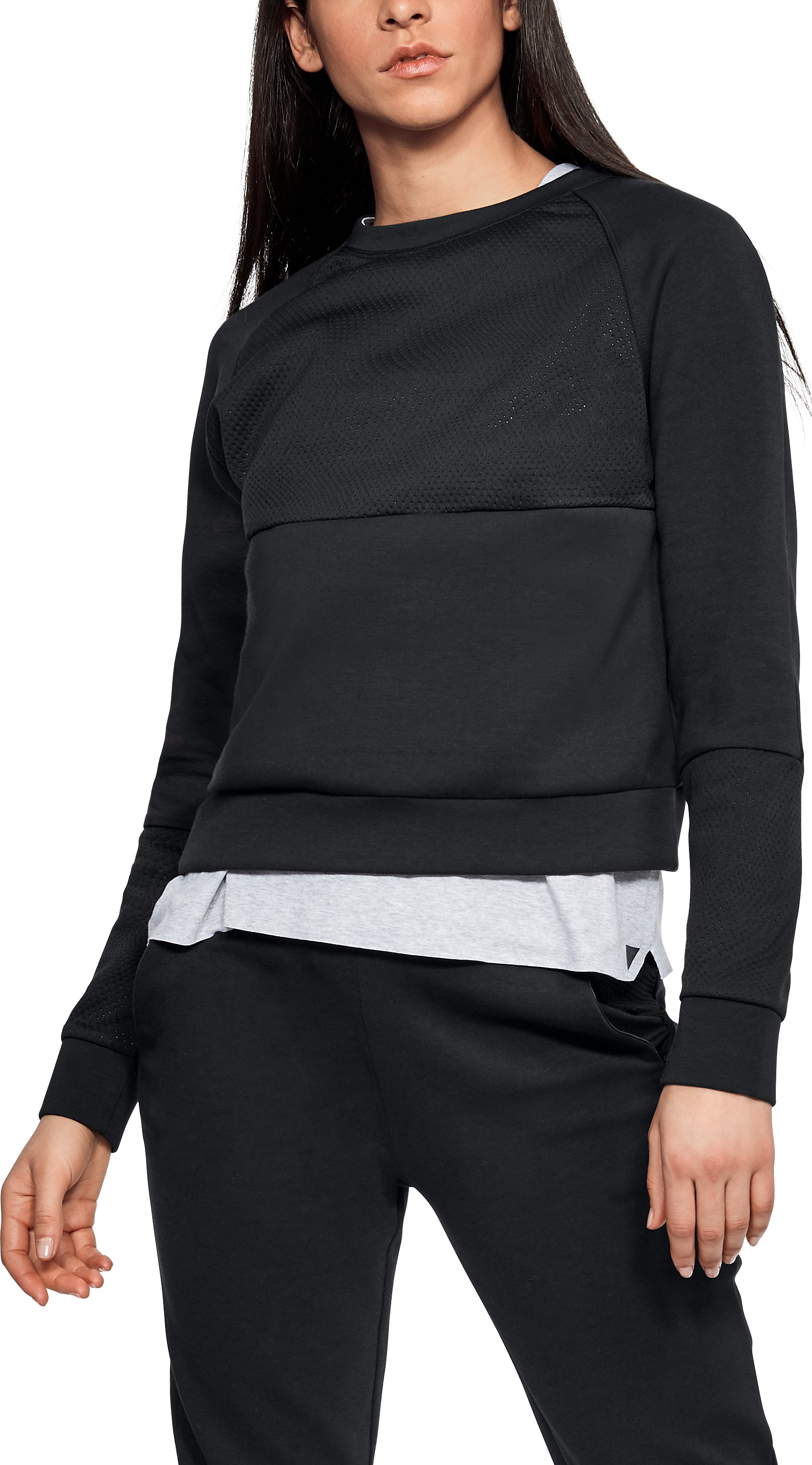 Women's UAS Shrunken Sweatshirt, Black