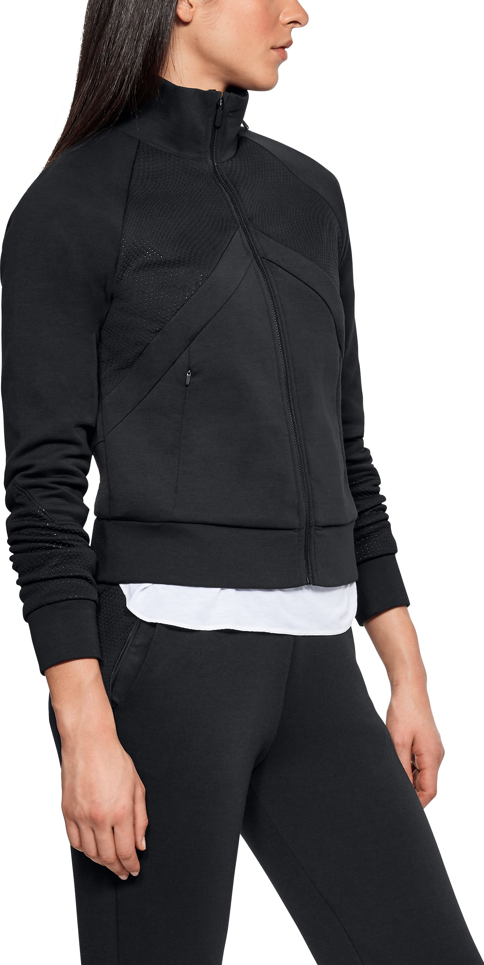 Women's UAS Track Jacket, Black , undefined