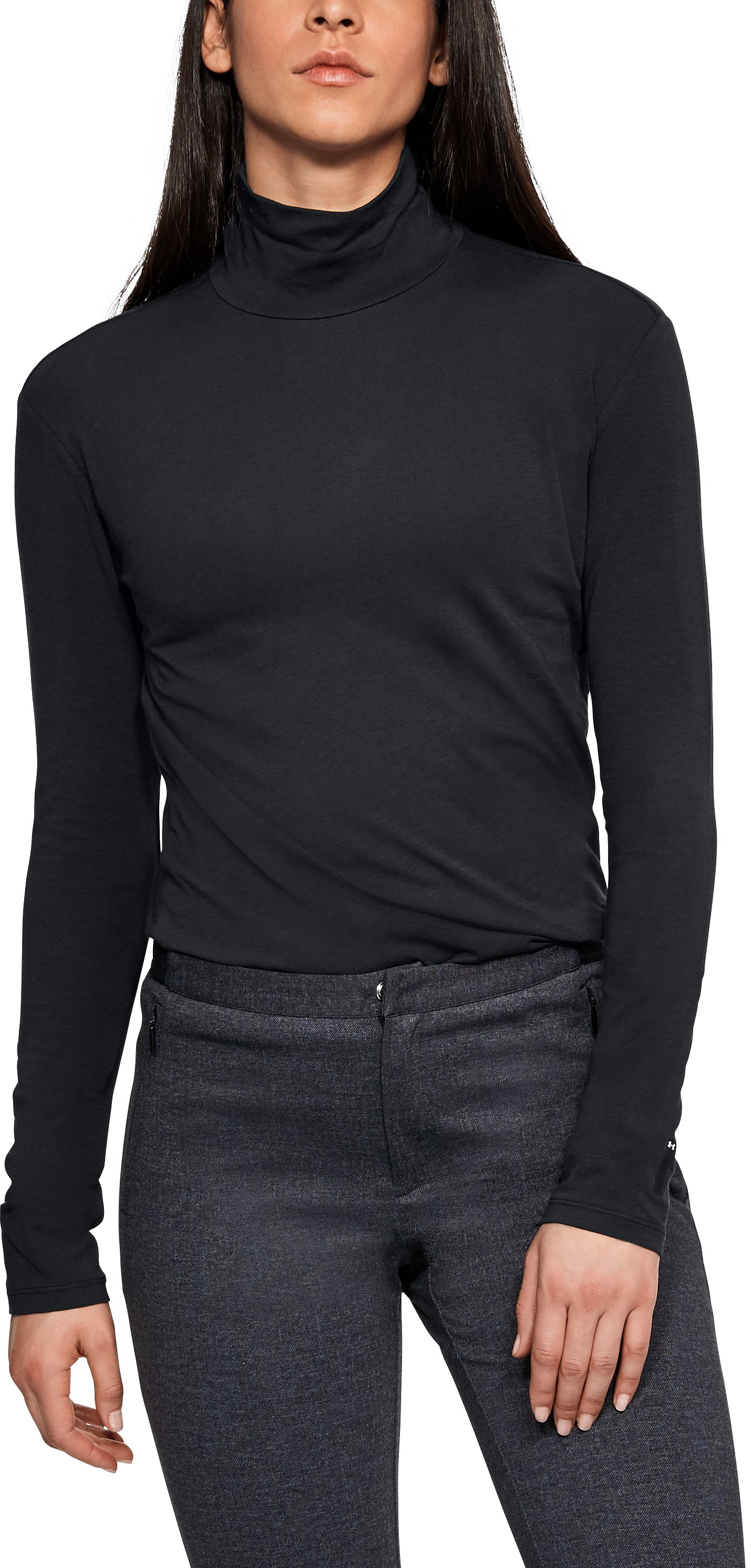 Women's UAS Turtleneck Long Sleeve, Black , undefined