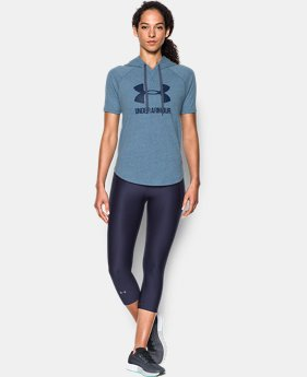 New to Outlet Women's UA Sportstyle Short Sleeve Hoodie  1 Color $33.74
