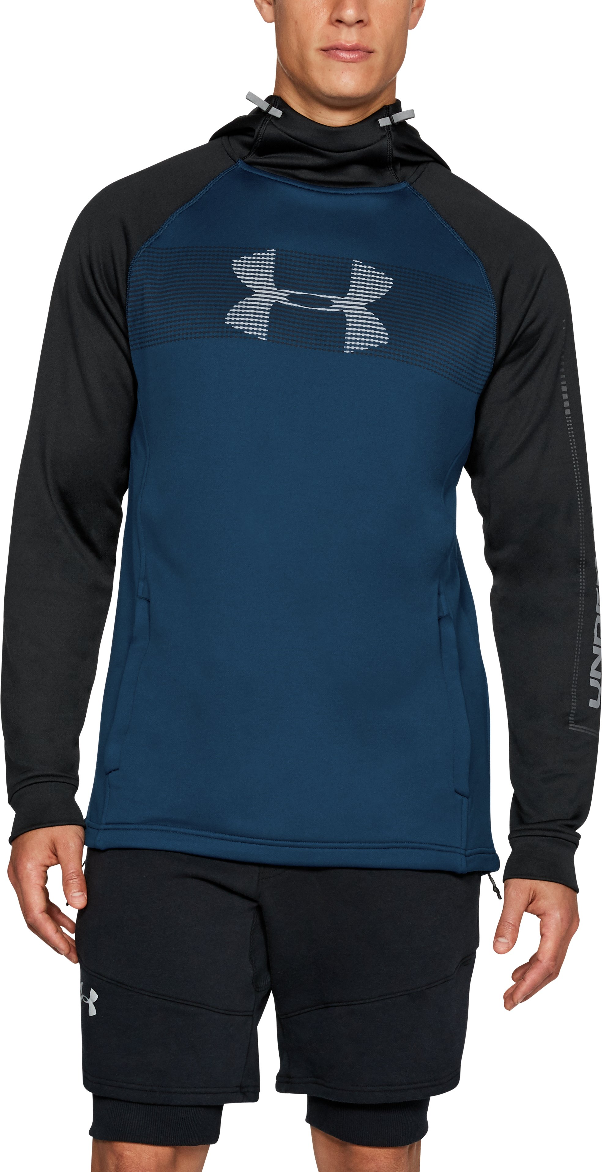 Men's UA Tech Terry Hoodie, BLACKOUT NAVY