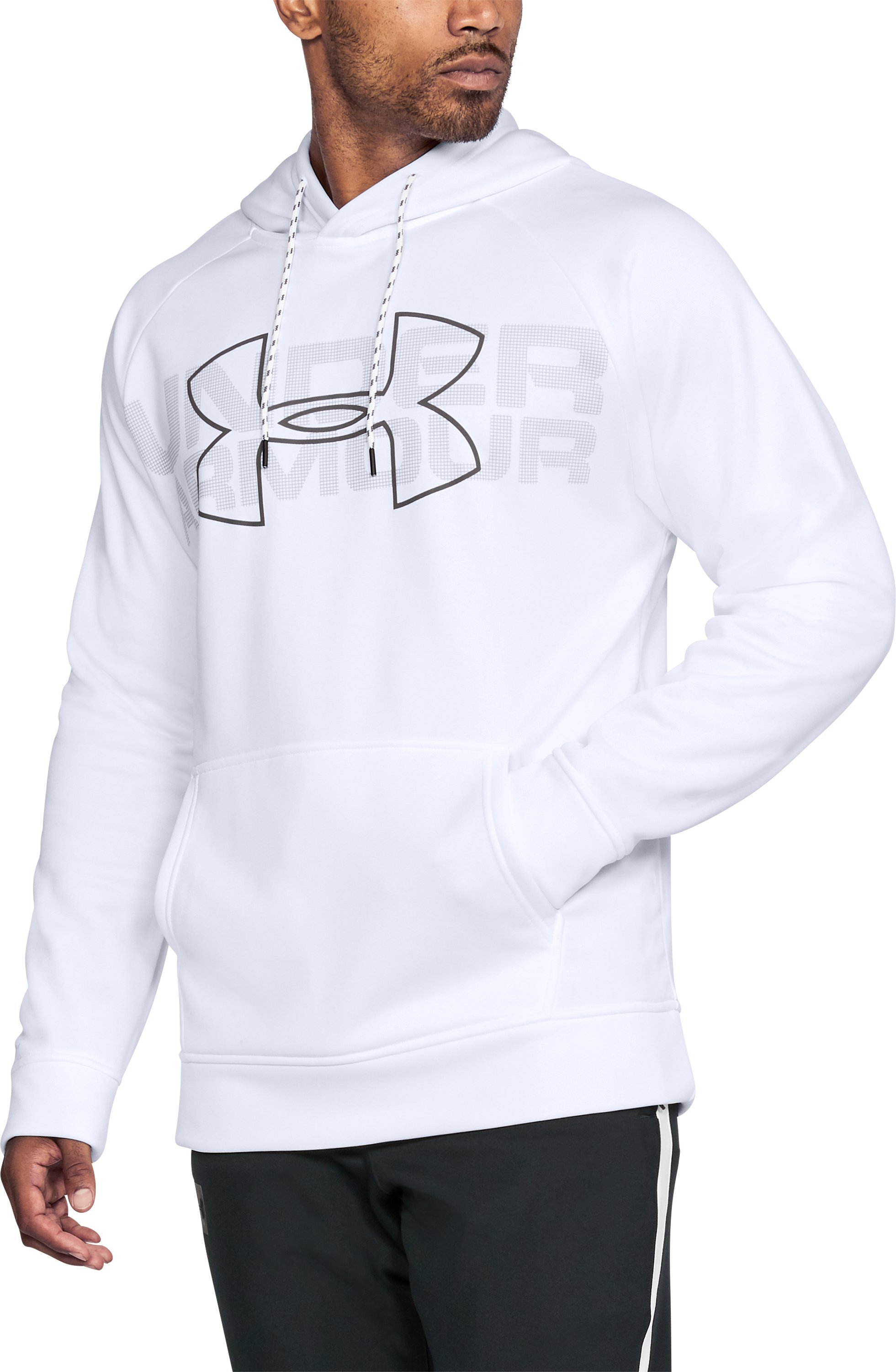 Men's UA Storm Armour Fleece® Graphic Hoodie, White