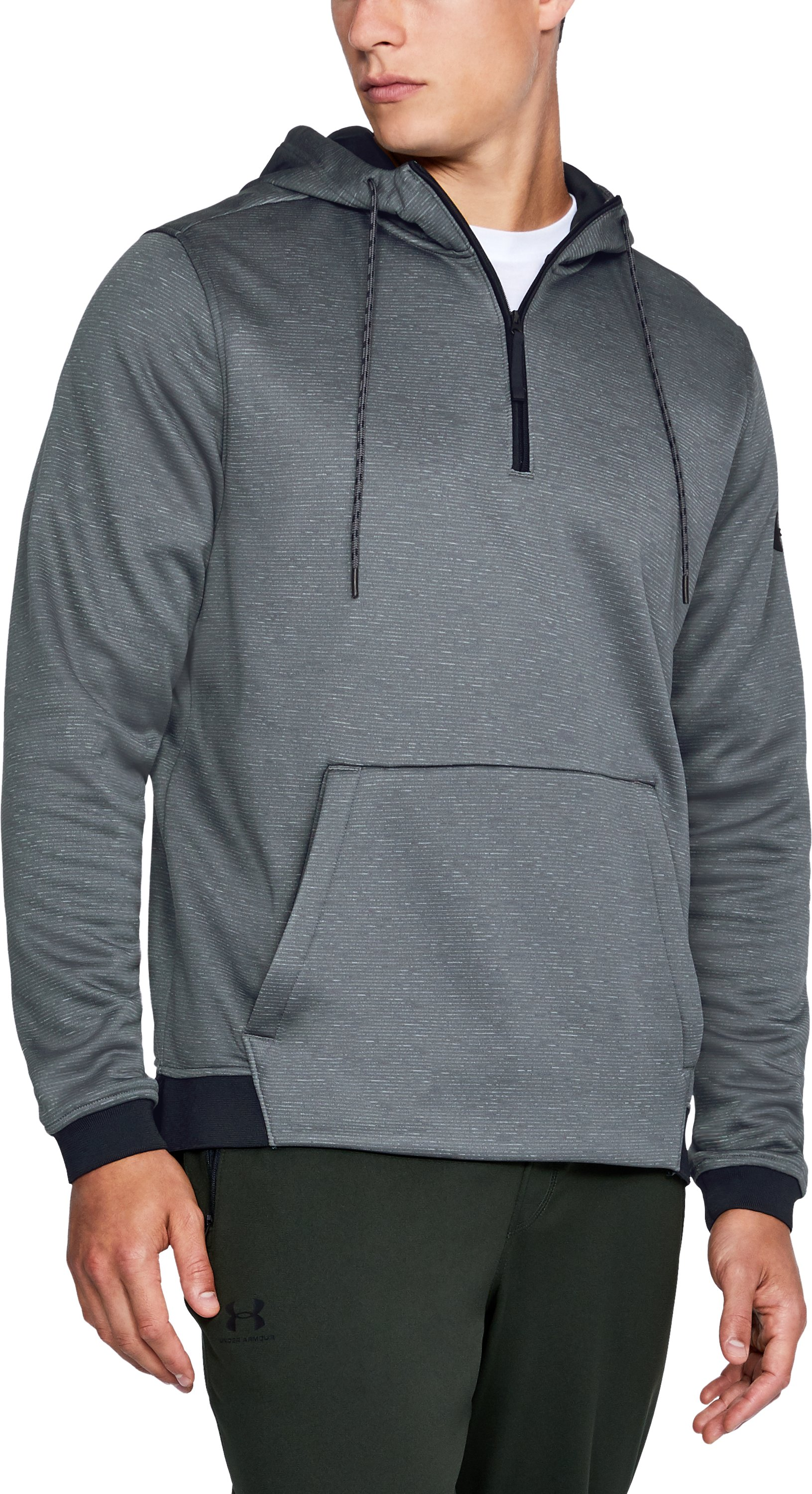 Men's UA Storm Armour Fleece® ¼ Zip Hoodie, RHINO GRAY