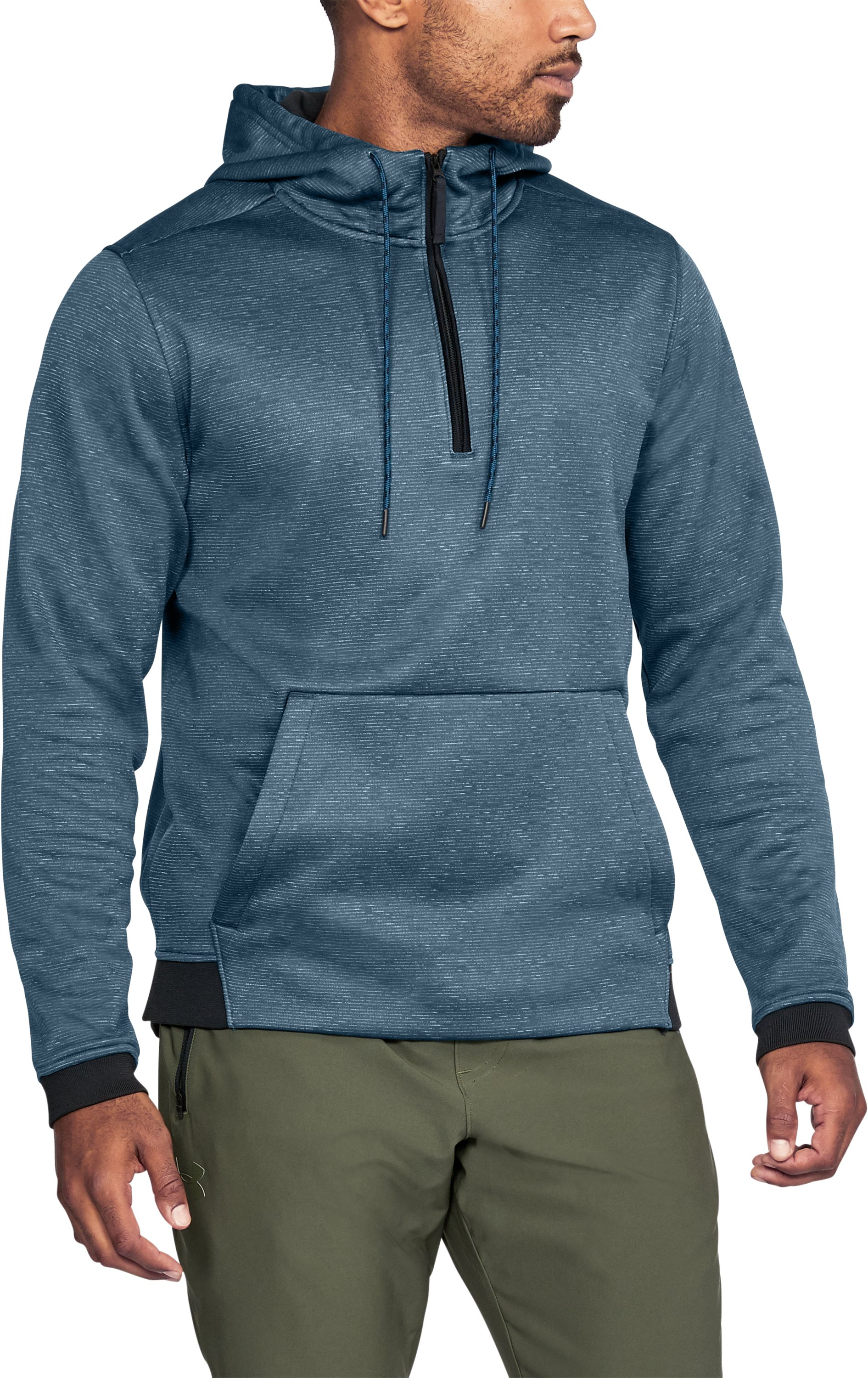 Men's UA Storm Armour Fleece® ¼ Zip Hoodie, TRUE INK,