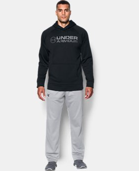 New Arrival Men's UA Storm Armour® Fleece Wordmark Hoodie  1 Color $54.99