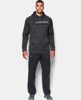 New Arrival Men's UA Storm Armour® Fleece Wordmark Hoodie  2 Colors $54.99