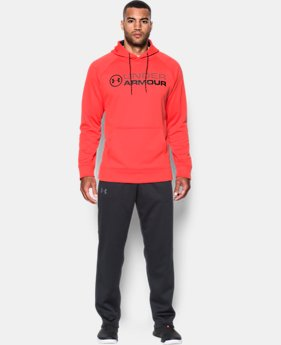 New Arrival Men's UA Storm Armour® Fleece Wordmark Hoodie  1 Color $64.99