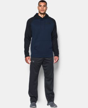 New Arrival Men's UA Storm Armour® Fleece Colorblock Hoodie  1 Color $54.99