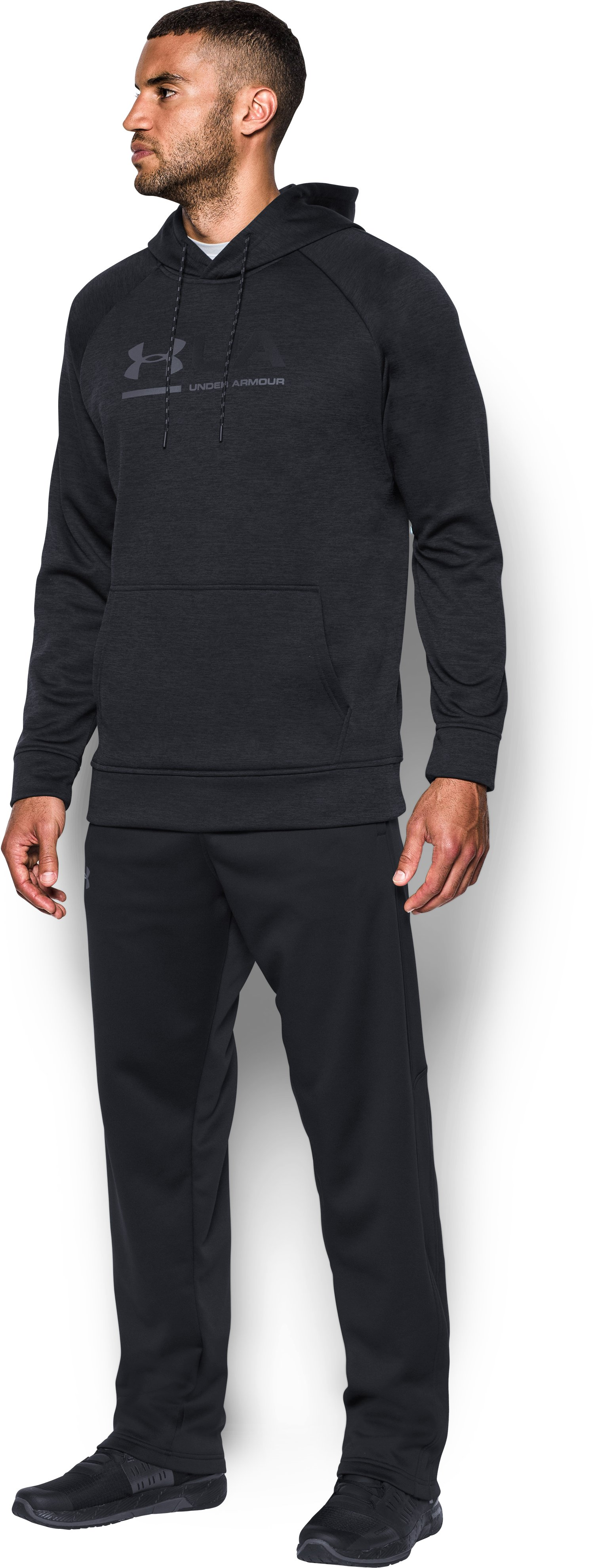 Men's UA Storm Armour® Fleece Tonal Twist Hoodie, Black , undefined
