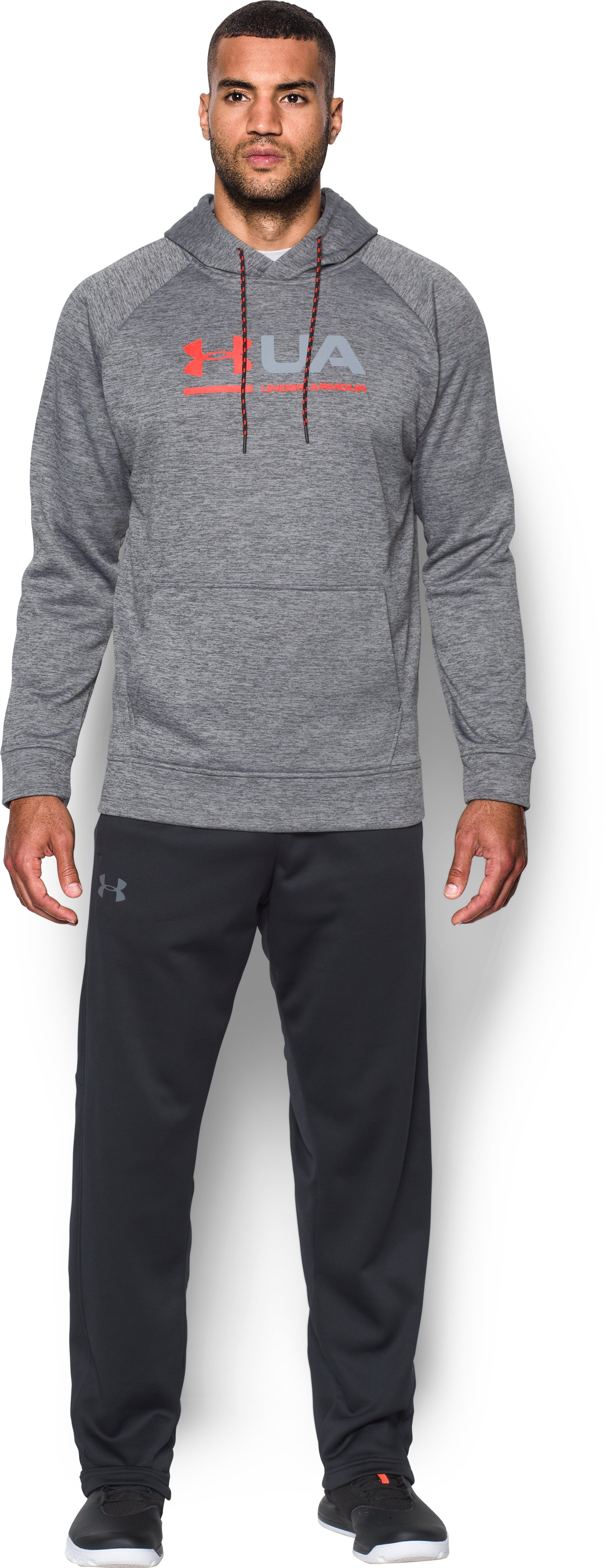 Men's UA Storm Armour Fleece® Tonal Twist Hoodie, Graphite, Front