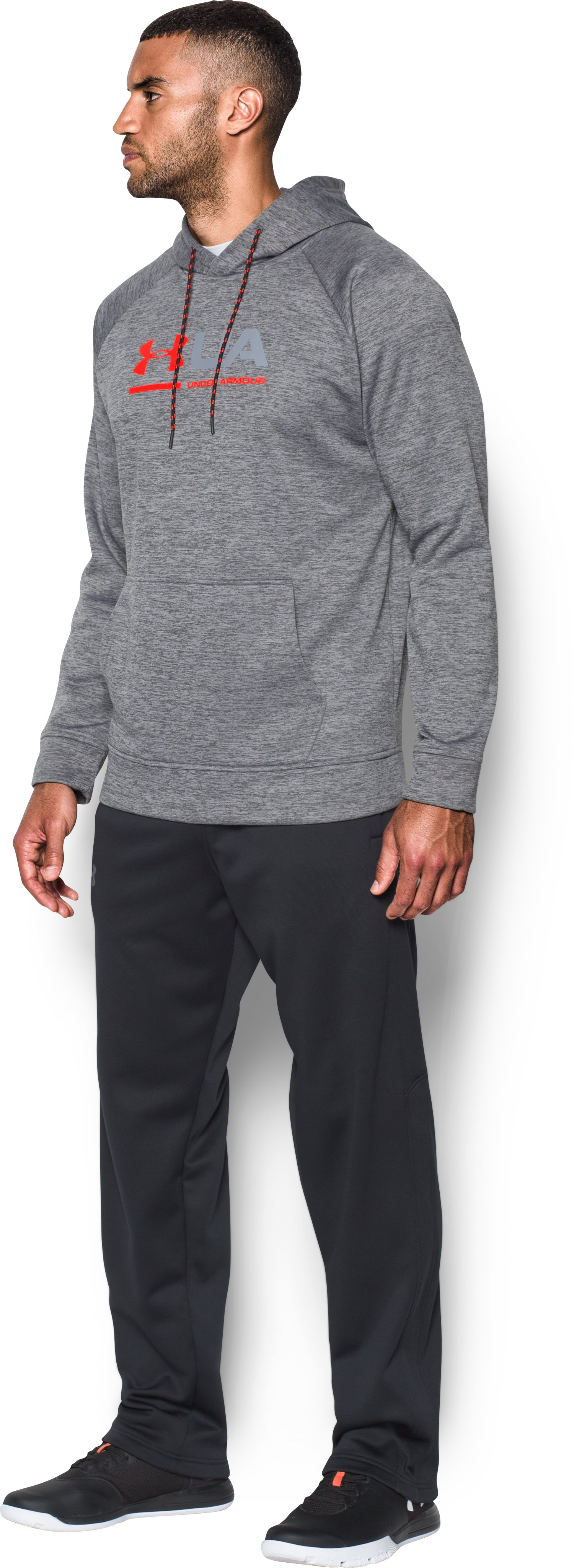 Men's UA Storm Armour Fleece® Tonal Twist Hoodie, Graphite, undefined